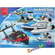 """Конструктор (Brick) серия """"Полиция"""" мод. 117 """"Морская полиция"""" (аналог LEGO)"""